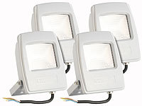 KryoLights Wetterfester LED-Fluter, 10 Watt, 750 Lumen, IP65, warmweiß, 4er-Set
