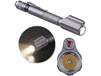KryoLights 2in1-Profi-Pen-Light, LED-Taschenlampe & Laser-Pointer, 110 lm, 3 W