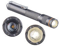 KryoLights Pen-Light-LED-Taschenlampe, 150 Lumen, 3 Watt, fokussierbar, Alu, IP54